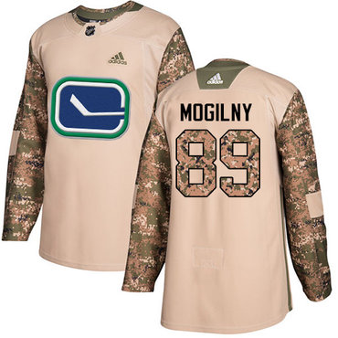 Adidas Canucks #89 Alexander Mogilny Camo Authentic 2017 Veterans Day Youth Stitched NHL Jersey