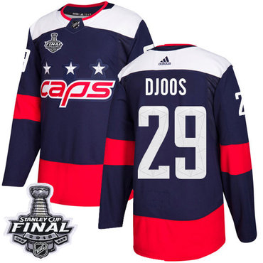 Adidas Capitals #29 Christian Djoos Navy Authentic 2018 Stadium Series Stanley Cup Final Stitched NHL Jersey