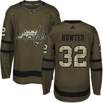 Adidas Capitals #32 Dale Hunter Green Salute to Service Stitched NHL Jersey