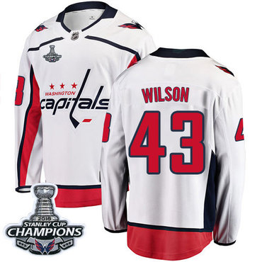 Adidas Capitals #43 Tom Wilson White 2018 Stanley Cup Final Stitched NHL Jersey