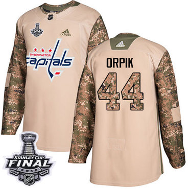Adidas Capitals #44 Brooks Orpik Camo Authentic 2017 Veterans Day 2018 Stanley Cup Final Stitched NHL Jersey