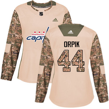 Adidas Capitals #44 Brooks Orpik Camo Authentic 2017 Veterans Day Women's Stitched NHL Jersey