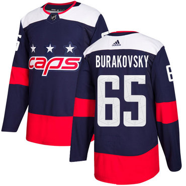 Adidas Capitals #65 Andre Burakovsky Navy Authentic 2018 Stadium Series Stitched NHL Jersey