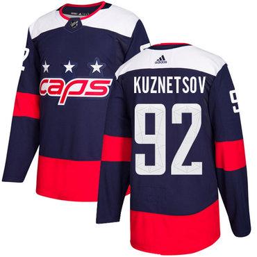 Adidas Capitals #92 Evgeny Kuznetsov Navy Authentic 2018 Stadium Series Stitched NHL Jersey