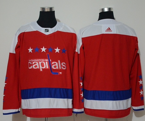 Adidas Capitals Blank Red Alternate Authentic Stitched NHL Jersey