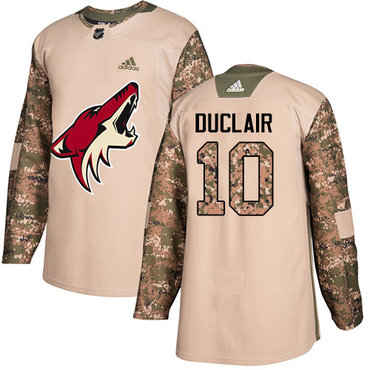 Adidas Coyotes #10 Anthony Duclair Camo Authentic 2017 Veterans Day Stitched Youth NHL Jersey