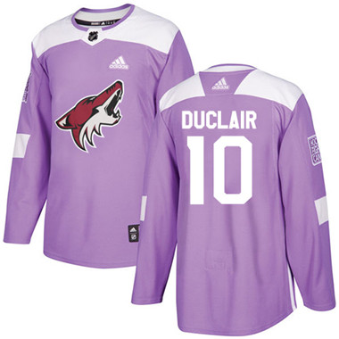 Adidas Coyotes #10 Anthony Duclair Purple Authentic Fights Cancer Stitched NHL Jersey