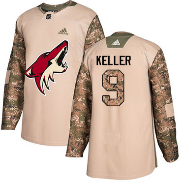 Adidas Coyotes #9 Clayton Keller Camo Authentic 2017 Veterans Day Stitched Youth NHL Jersey