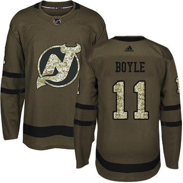 Adidas Devils #11 Brian Boyle Green Salute to Service Stitched Youth NHL Jersey
