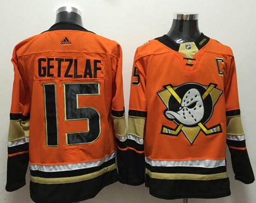 Adidas Ducks #15 Ryan Getzlaf Orange Authentic Stitched NHL Jersey