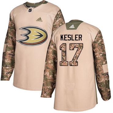 Adidas Ducks #17 Ryan Kesler Camo Authentic 2017 Veterans Day Youth Stitched NHL Jersey