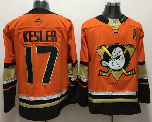 Adidas Ducks #17 Ryan Kesler Orange Authentic Stitched NHL Jersey