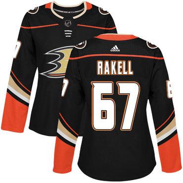 Adidas Ducks #67 Rickard Rakell Black Home Authentic Women's Stitched NHL Jersey