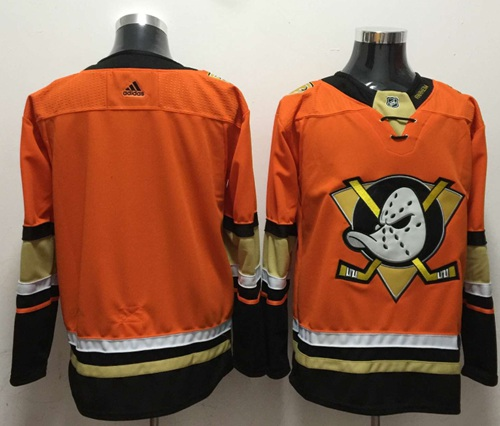 Adidas Ducks Blank Orange Authentic Stitched NHL Jersey