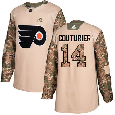 Adidas Flyers #14 Sean Couturier Camo Authentic 2017 Veterans Day Stitched Youth NHL Jersey