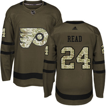 Adidas Flyers #24 Matt Read Green Salute to Service Stitched NHL Jersey