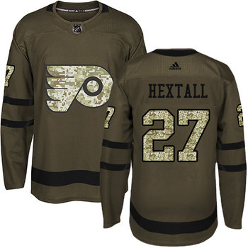 Adidas Flyers #27 Ron Hextall Green Salute to Service Stitched NHL Jersey