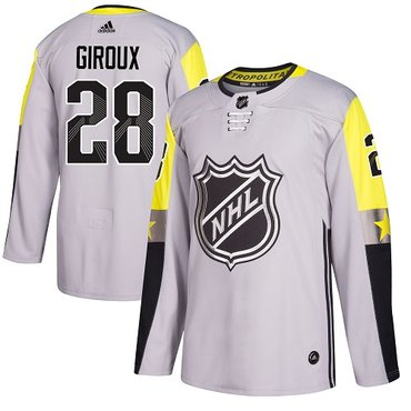 Adidas Flyers #28 Claude Giroux Gray 2018 All-Star Metro Division Authentic Stitched NHL Jersey