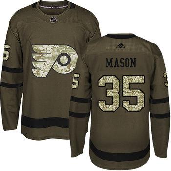 Adidas Flyers #35 Steve Mason Green Salute to Service Stitched NHL Jersey