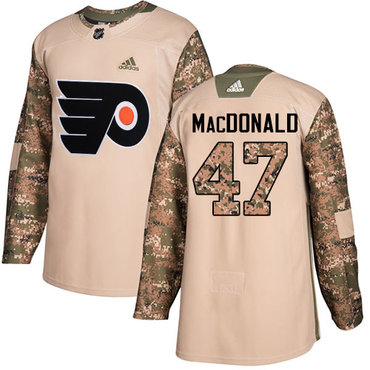 Adidas Flyers #47 Andrew MacDonald Camo Authentic 2017 Veterans Day Stitched Youth NHL Jersey