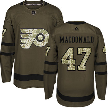 Adidas Flyers #47 Andrew MacDonald Green Salute to Service Stitched NHL Jersey