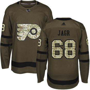 Adidas Flyers #68 Jaromir Jagr Green Salute to Service Stitched NHL Jersey