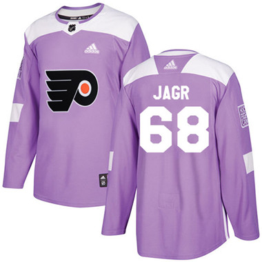 Adidas Flyers #68 Jaromir Jagr Purple Authentic Fights Cancer Stitched NHL Jersey