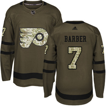 Adidas Flyers #7 Bill Barber Green Salute to Service Stitched NHL Jersey