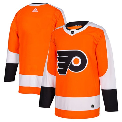 Adidas Flyers Blank Orange Home Authentic Stitched Youth NHL Jersey