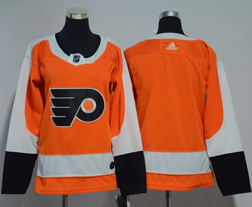 Adidas Flyers Blank Orange Home Authentic Women's Stitched NHL Jersey