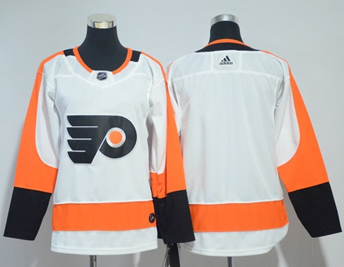 Adidas Flyers Blank White Road Authentic Stitched Youth NHL Jersey