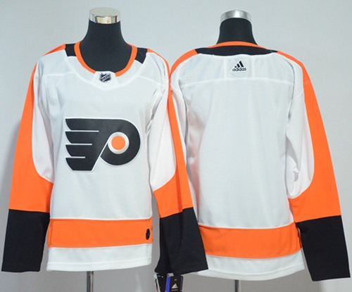 Adidas Flyers Blank White Road Authentic Women's Stitched NHL Jersey