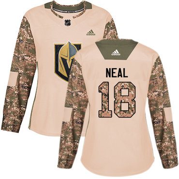 Adidas Golden Knights #18 James Neal Camo Authentic 2017 Veterans Day Women's Stitched NHL Jersey