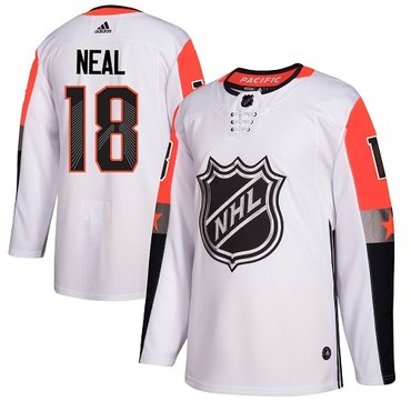 Adidas Golden Knights #18 James Neal White 2018 All-Star Pacific Division Authentic Stitched NHL Jersey