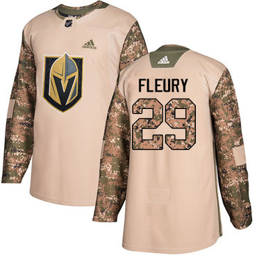 Adidas Golden Knights #29 Marc-Andre Fleury Camo Authentic 2017 Veterans Day Stitched Youth NHL Jersey