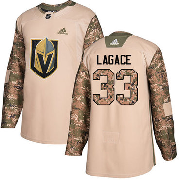 Adidas Golden Knights #33 Maxime Lagace Camo Authentic 2017 Veterans Day Stitched Youth NHL Jersey