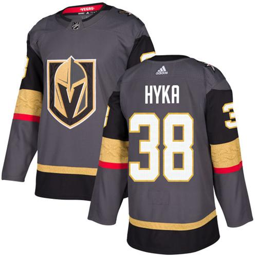 Adidas Golden Knights #38 Tomas Hyka Grey Home Authentic Stitched NHL Jersey