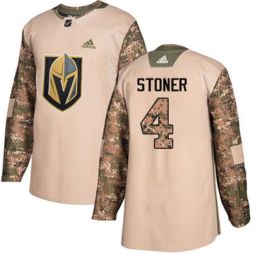 Adidas Golden Knights #4 Clayton Stoner Camo Authentic 2017 Veterans Day Stitched Youth NHL Jersey