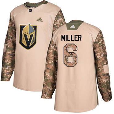 Adidas Golden Knights #6 Colin Miller Camo Authentic 2017 Veterans Day Stitched Youth NHL Jersey