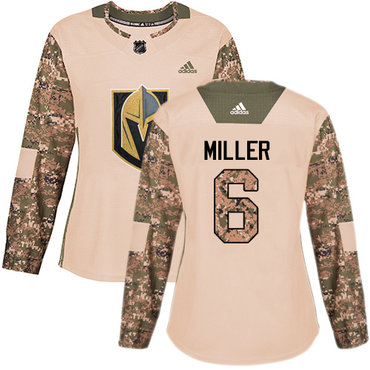 Adidas Golden Knights #6 Colin Miller Camo Authentic 2017 Veterans Day Women's Stitched NHL Jersey