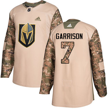 Adidas Golden Knights #7 Jason Garrison Camo Authentic 2017 Veterans Day Stitched Youth NHL Jersey