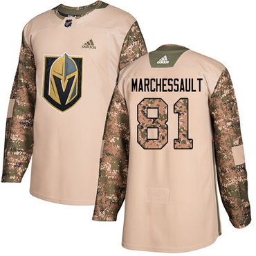 Adidas Golden Knights #81 Jonathan Marchessault Camo Authentic 2017 Veterans Day Stitched Youth NHL Jersey