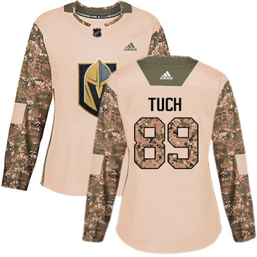 Adidas Golden Knights #89 Alex Tuch Camo Authentic 2017 Veterans Day Women's Stitched NHL Jersey