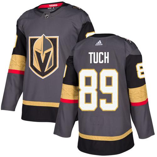 Adidas Golden Knights #89 Alex Tuch Grey Home Authentic Stitched NHL Jersey
