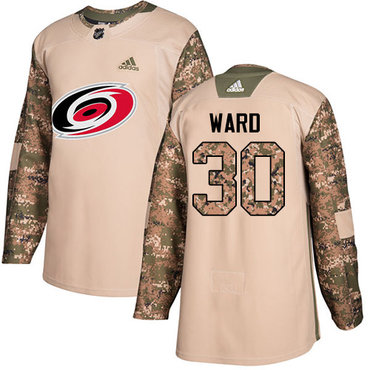 Adidas Hurricanes #30 Cam Ward Camo Authentic 2017 Veterans Day Stitched Youth NHL Jersey