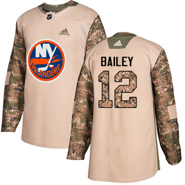 Adidas Islanders #12 Josh Bailey Camo Authentic 2017 Veterans Day Stitched NHL Jersey