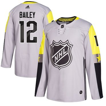Adidas Islanders #12 Josh Bailey Gray 2018 All-Star Metro Division Authentic Stitched NHL Jersey