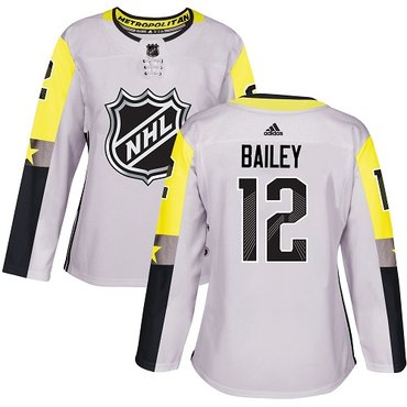 Adidas Islanders #12 Josh Bailey Gray 2018 All-Star Metro Division Authentic Women's Stitched NHL Jersey