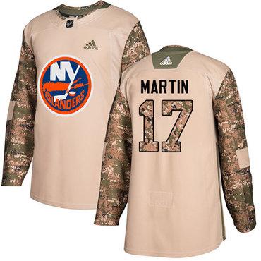 Adidas Islanders #17 Matt Martin Camo Authentic 2017 Veterans Day Stitched NHL Jersey