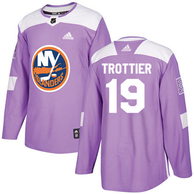 Adidas Islanders #19 Bryan Trottier Purple Authentic Fights Cancer Stitched NHL Jersey